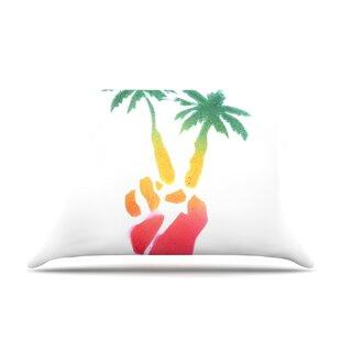 Peace Palms By Infinite Spray Art Palm Tree Cotton Pillow Sham