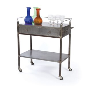 Payton Industrial Kitchen Cart by 17 Stories