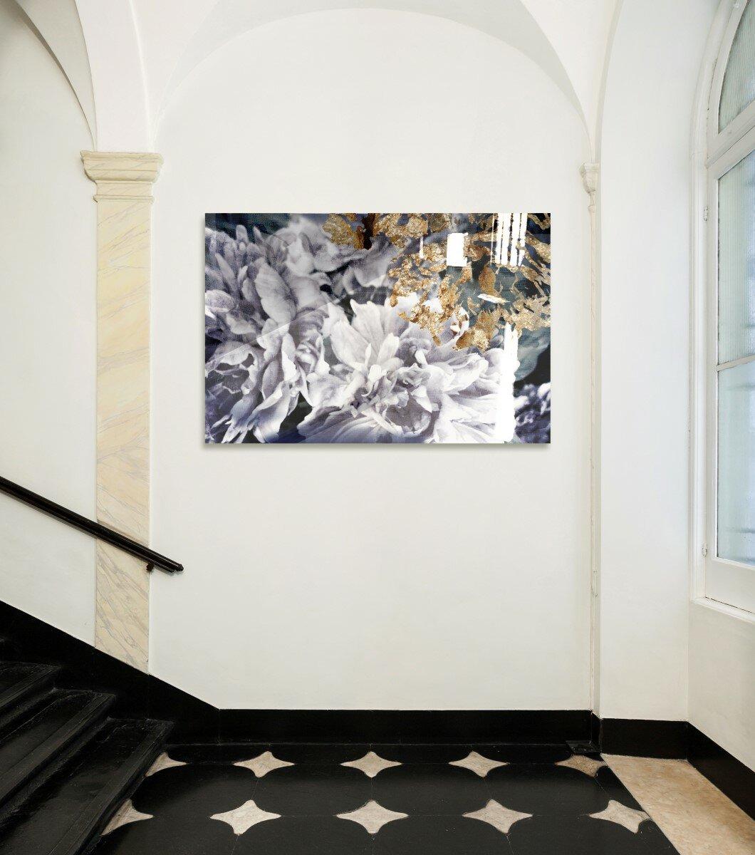 oliver gal dos gardenias high gloss graphic art on canvas wayfair