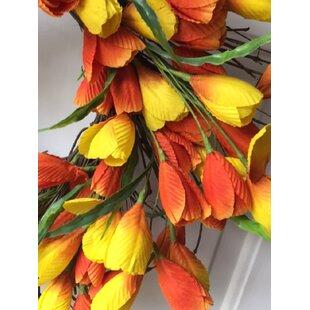 tulip wreath wayfair