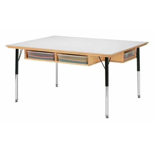 Jonti craft 48 x 36 rectangular activity table reviews for Table x reviews