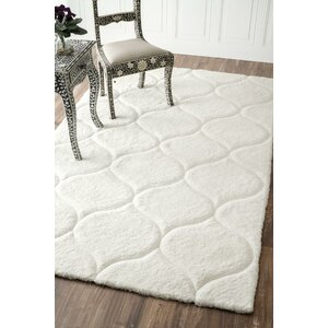 Gerold Hand-Tufted White Area Rug
