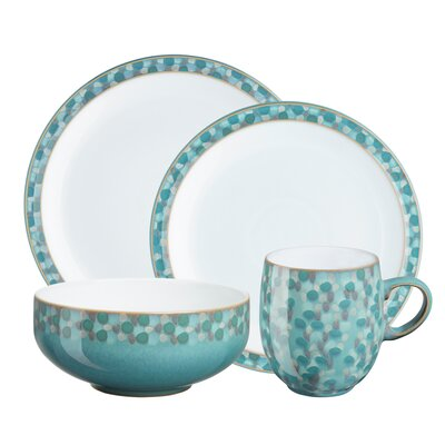 Denby Azure Shell 4 Piece Place Setting, Service for 1