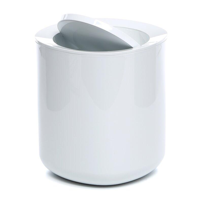 Birillo Bathroom 1 Gallon Swing Top Trash Can