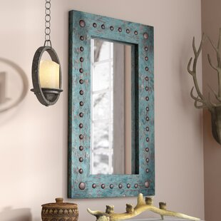 rustic wall mirrors wooden lajoie accent mirror large oversized rustic mirrors youll love wayfair