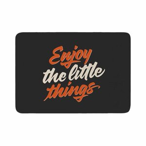 Juan Paolo Enjoy the Little Things Vintage Memory Foam Bath Rug