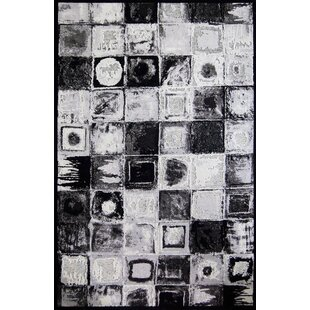 Inexpensive Emme Black/White Area Rug By 17 Stories