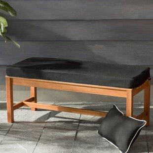 Black Sunbrella Outdoor Bench Cushion
