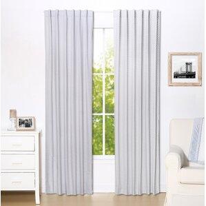 polka dot curtains & drapes you'll love | wayfair