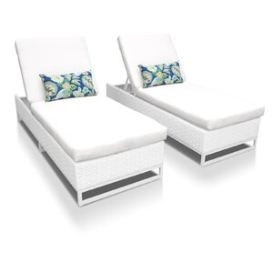Miami Chaise Lounges with Cushions (Set of 2)