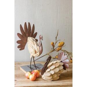 Turkey 2 Piece Figurine Set
