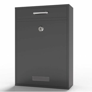 Durable Wall Mounted Mail Steel Drop Box With Lock And Key