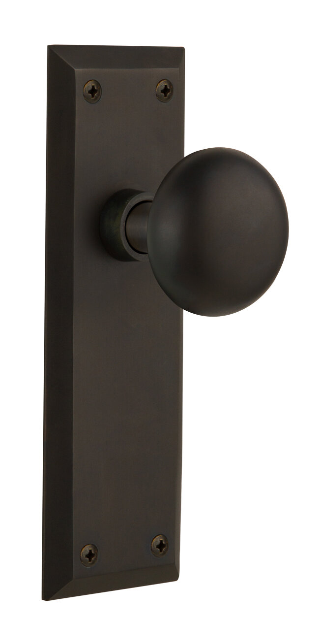Nostalgic Warehouse New York Privacy Door Knob with New York Plate ...