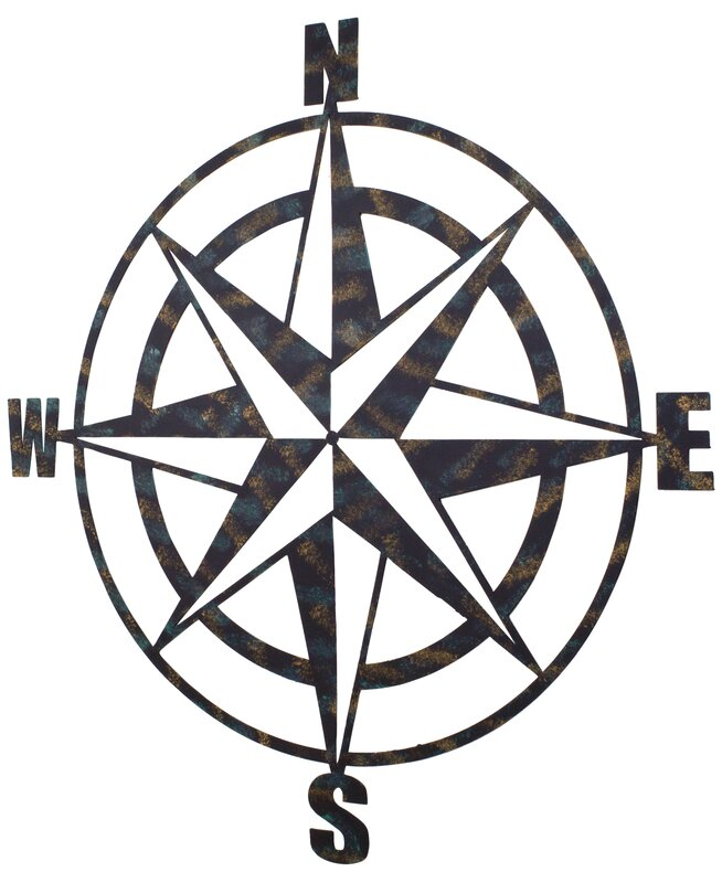 Genial Metal Compass Wall Décor