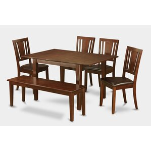 Milan 6 Piece Dining Set by East West Furniture