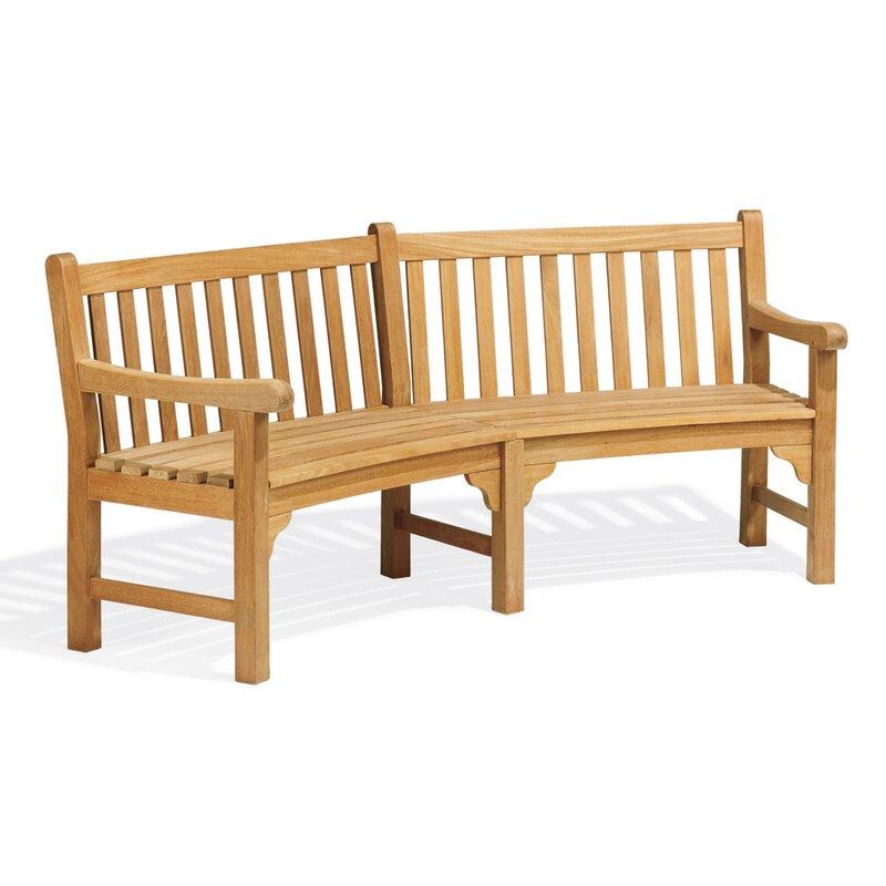 Canora Grey Dunloy Curved Wood Garden Bench Reviews Wayfair