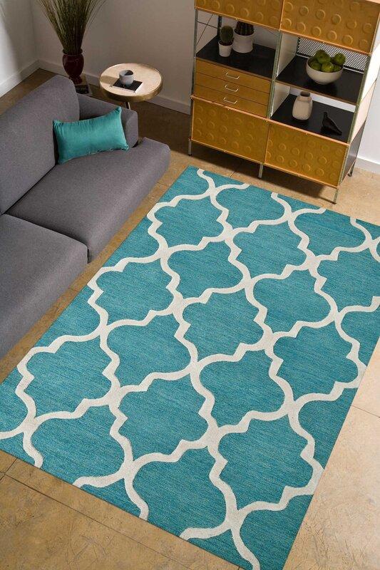parwis handgetufteter teppich miami in hellblau bewertungen. Black Bedroom Furniture Sets. Home Design Ideas