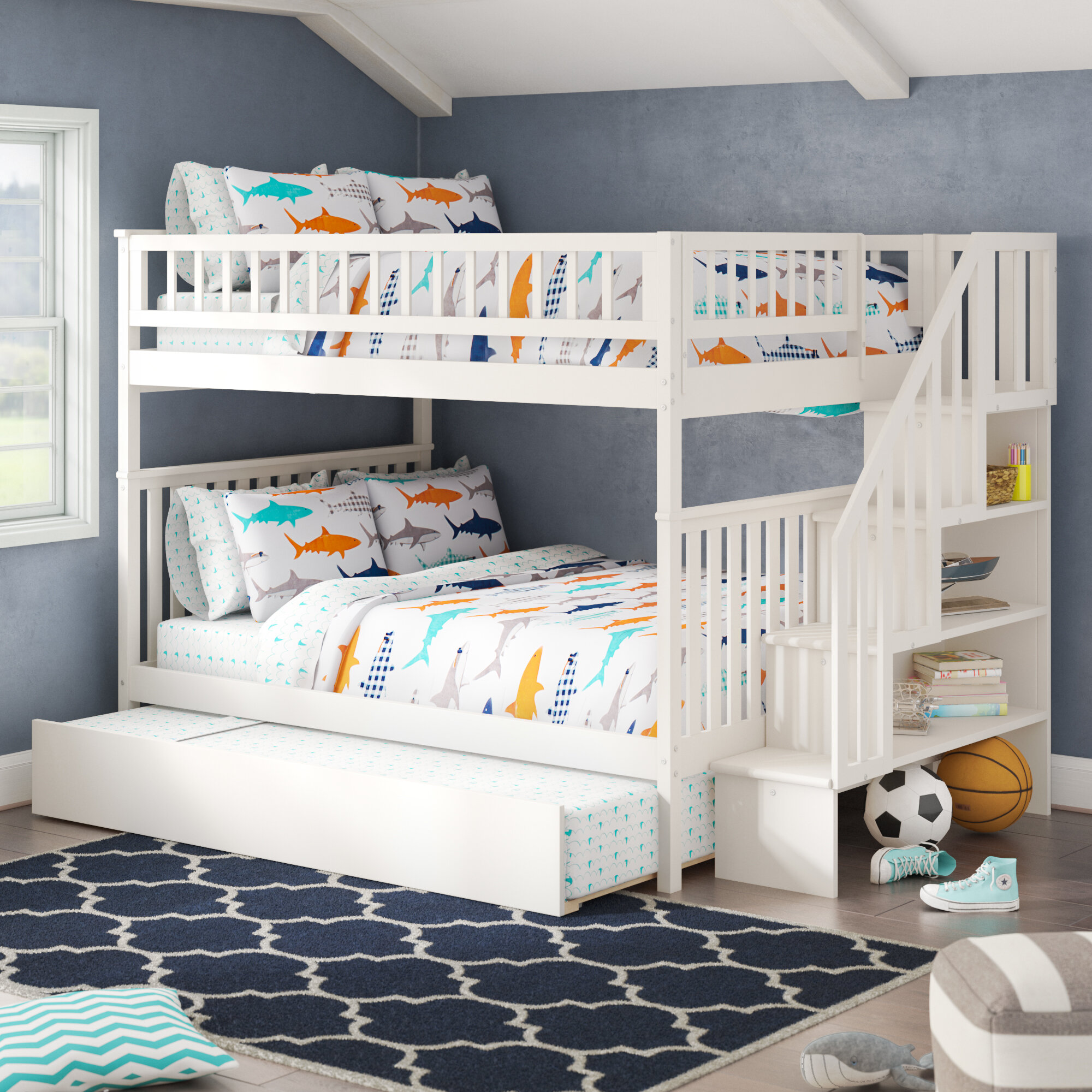 Viv + Rae Shyann Full over Full Bunk Bed with Trundle & Reviews