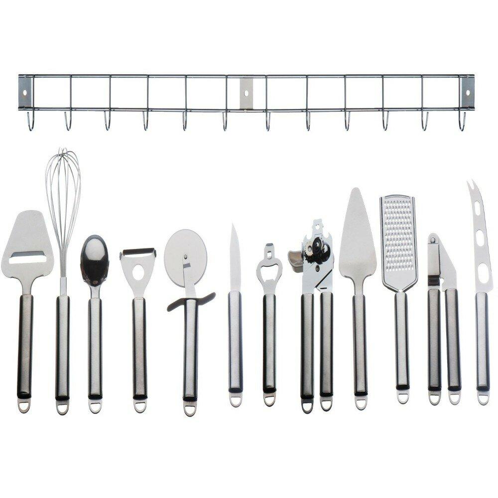 VonShef 12 Piece Stainless Steel Kitchen Utensil Set   Wayfair