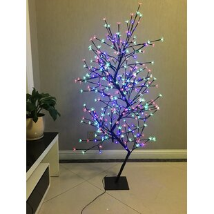 Dual LED Cherry Blossom Tree Clear And RGB Lamp