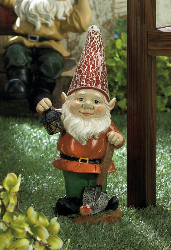 Lovely Little Lantern Gnome Solar Statue