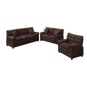 Red Barrel Studio Kingsport 3 Piece Living Room Set Image