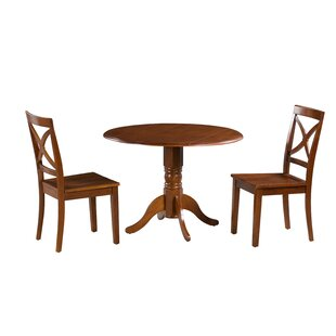 Chesterton 3 Piece Drop Leaf Solid Wood Dining Set Comparison