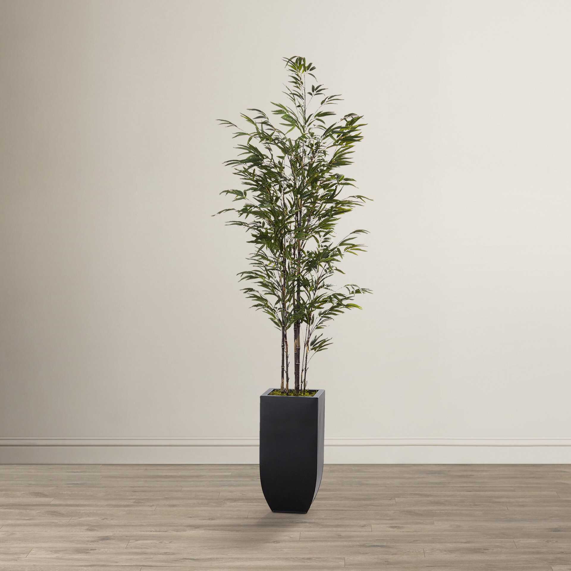 Mistana Artificial Bamboo Tree In Planter Reviews Wayfair