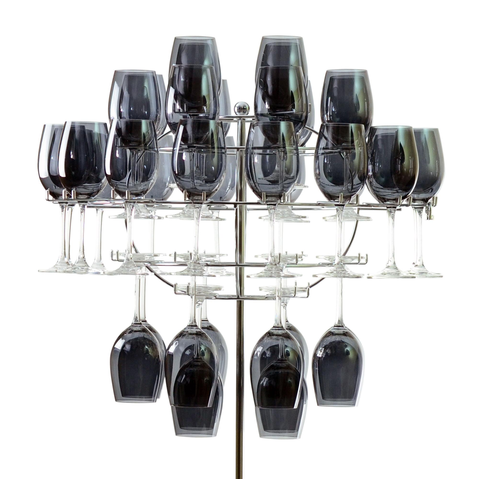 Ten Strawberry Street Chandelier Tabletop Wine Glass Rack