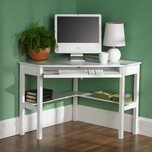 corner white desks you ll love wayfair rh wayfair com small white corner desk amazon small white corner desk with hutch