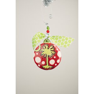 Palmetto Puff Ball Ornament