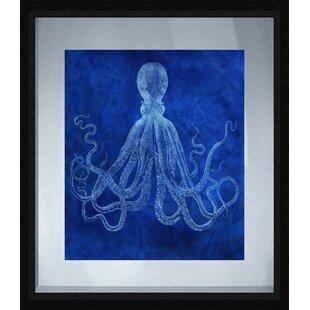 Coastal Octopus Framed Graphic Art