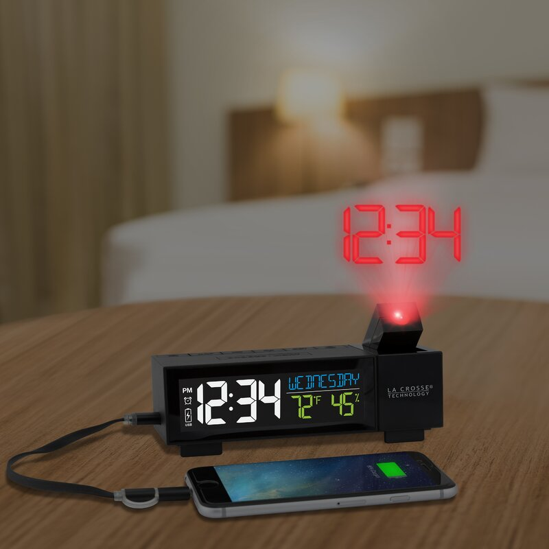 Projection Alarm Desktop Clock