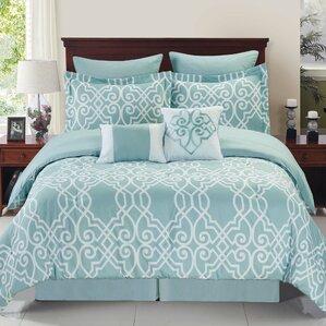 Twin Bedding Youll Love Wayfair - Contemporary green comforter set