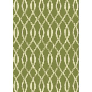 Reviews Hurd Belgium Green/White Indoor/ Outdoor Use Area Rug By Charlton Home