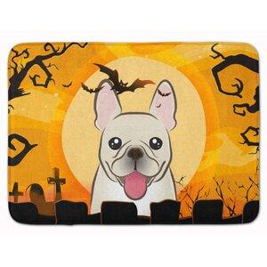 Halloween French Bulldog Memory Foam Bath Rug
