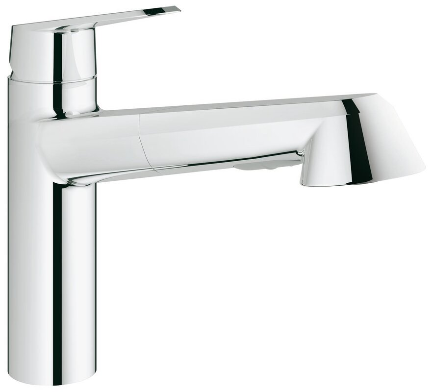 Grohe Eurodisc Single Handle Kitchen Faucet with SilkMove® & Reviews ...