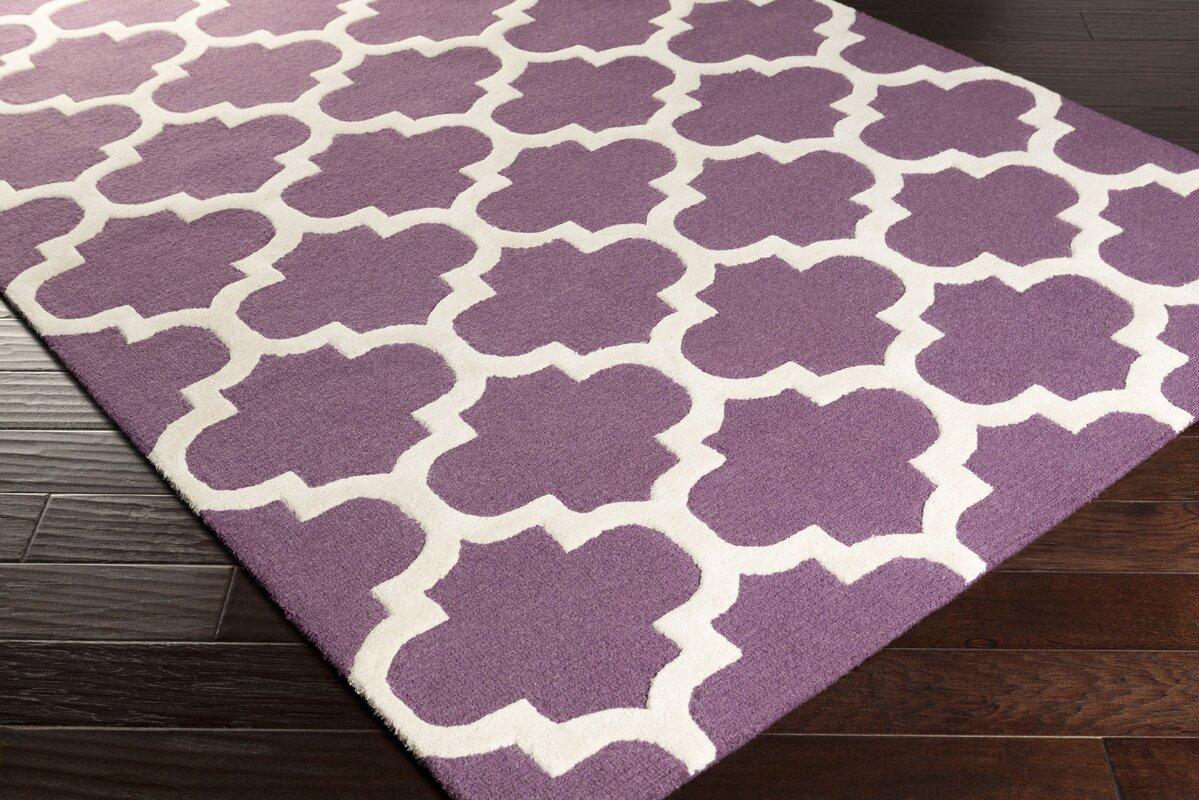 charlton home blaisdell purple geometric stella area rug  reviews  - defaultname