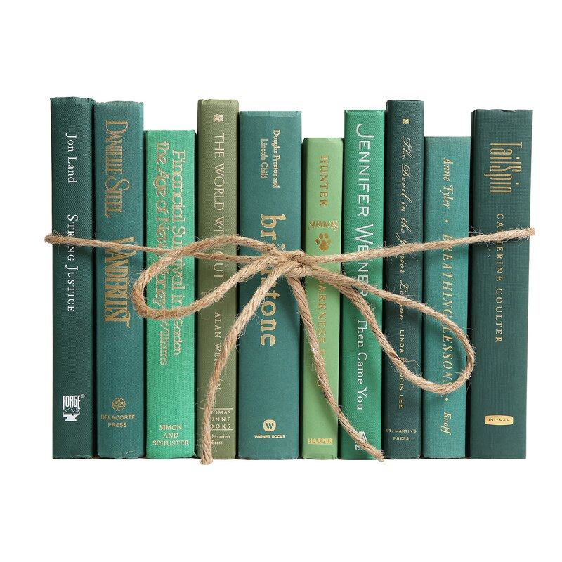 Authentic Decorative Books By Color Modern Boxwood Colorpak 1 Linear Foot 10