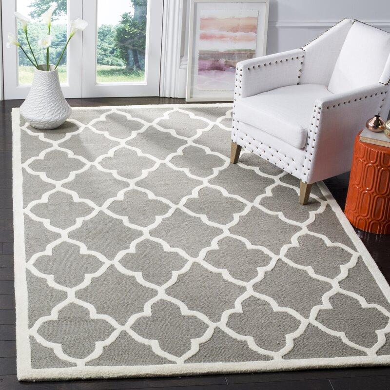 safavieh handgetufteter teppich carson in dunkelgrau. Black Bedroom Furniture Sets. Home Design Ideas