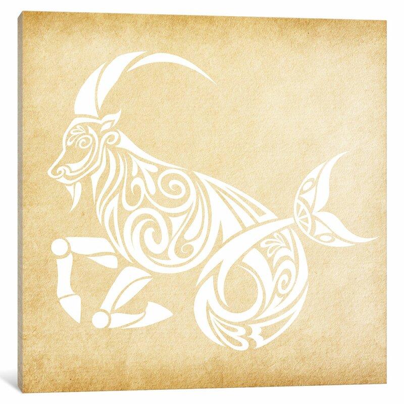 Trustworthy Sea Goat Graphic Art On Wred Canvas