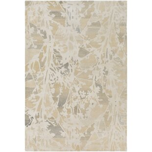 Best Heather Hand-Tufted Cream/Butter Area Rug By Winston Porter