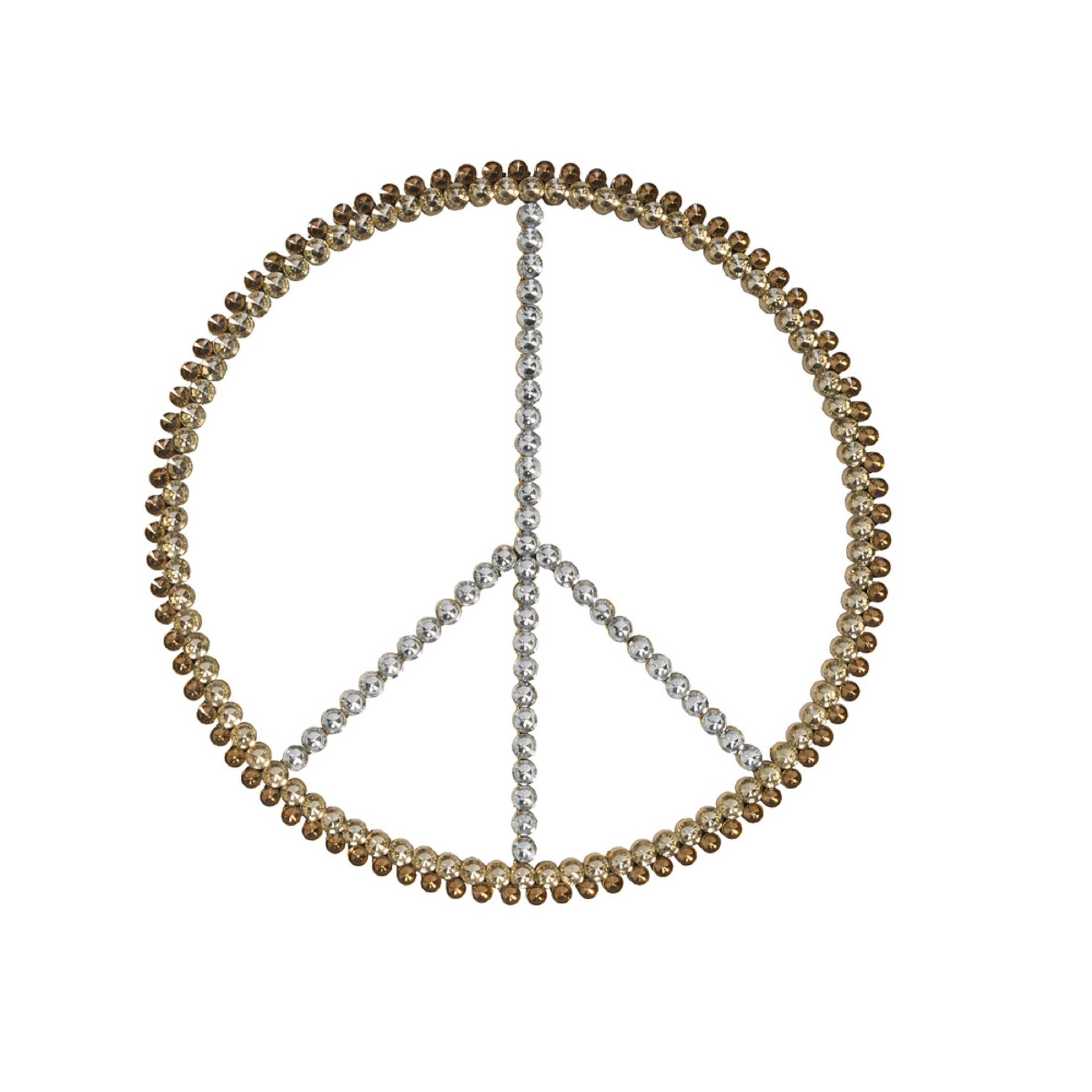 a0ae91229 Tripar 3-Tone Acrylic Bling Peace Sign Wall Décor | Wayfair.ca