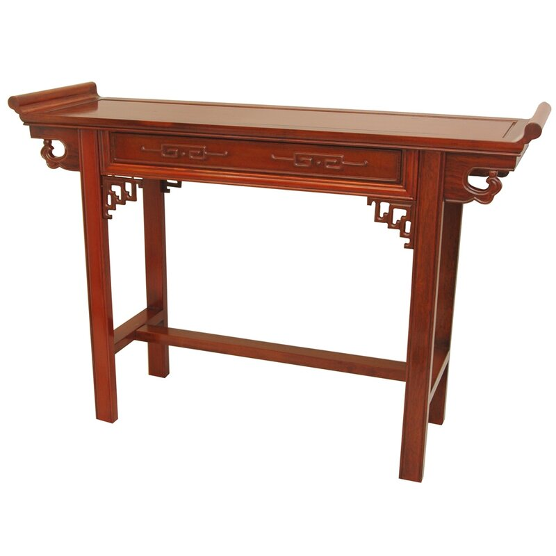 Hall Console oriental furniture qing hall console table & reviews | wayfair