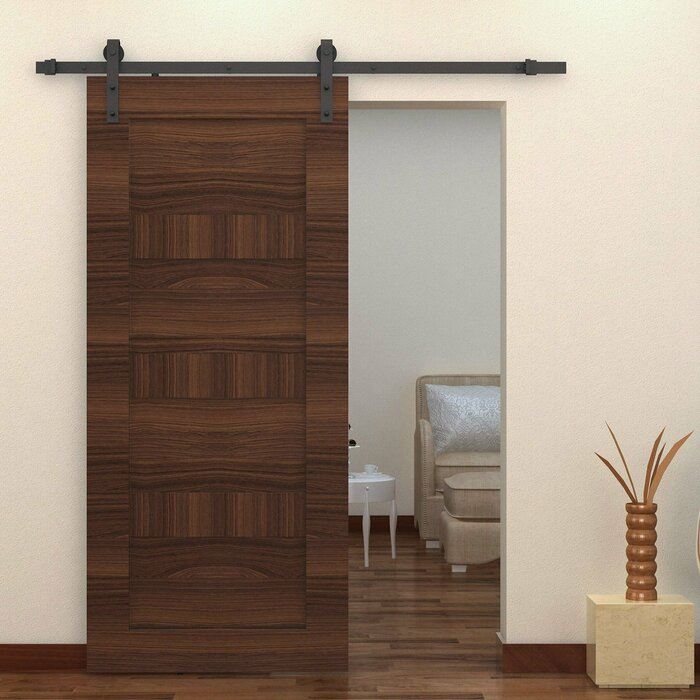 Modern Carbon Steel Wood Sliding Barn Door Hardware