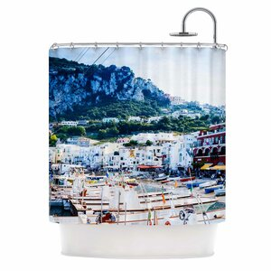 Capri Paradise by Violet Hudson Shower Curtain