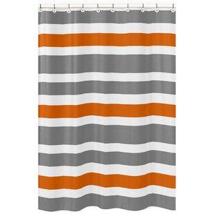 orange and gray shower curtain. Orange Shower Curtains You Ll Love  Wayfair