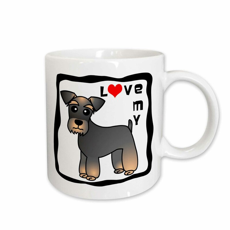 I Love My Miniature Schnauzer Dog Coffee Mug