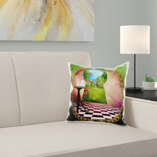 Through The Keyholes Alice In Wonderland Pillow Cover