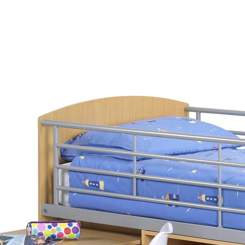 Viv Rae Single Mid Sleeper Bed With Storage Amp Reviews